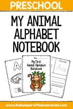 My First Animal Alphabet Preschool Worksheets