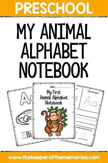 My First Animal Alphabet Notebook