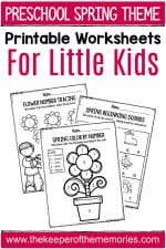 Spring Printable Preschool Worksheets