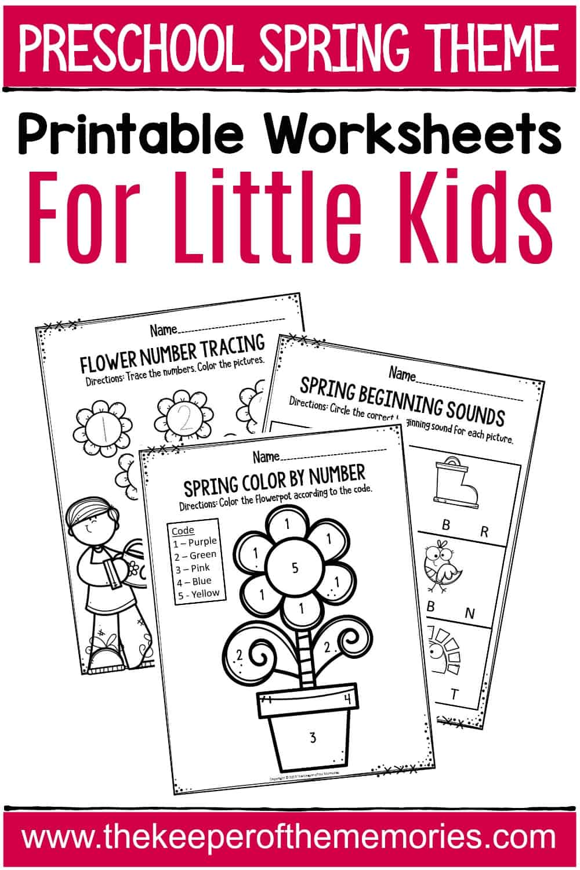 Spring Printable Preschool Worksheets - The Keeper of the ...