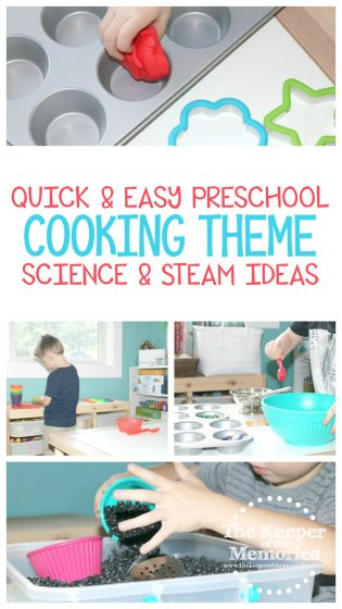 Quick & Easy Preschool Cooking Theme Science & STEAM Ideas