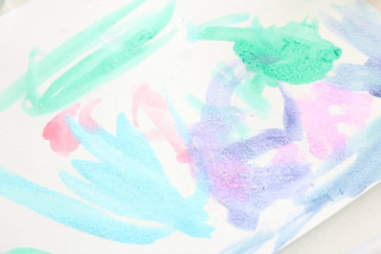 preschool salt painting art