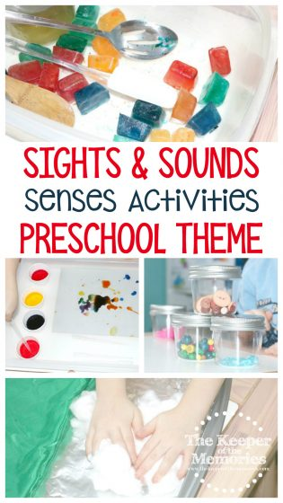 Sights & Sounds Preschool Theme Senses Activities