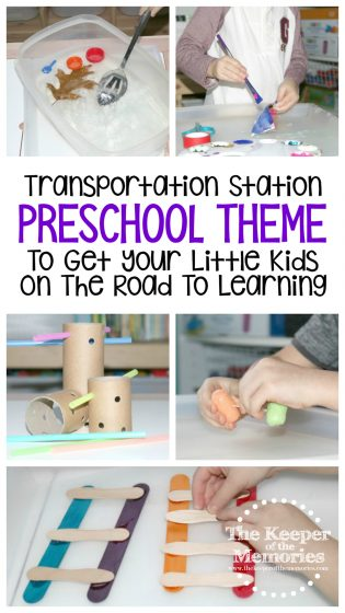 Transportation Station Preschool Station To Get Your Little Kids On The Road To Learning