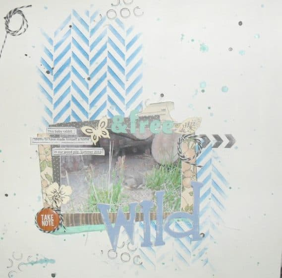12x12 scrapbook layout featuring the use of printed journaling