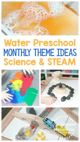 Water Preschool Monthly Theme Ideas Science & STEAM