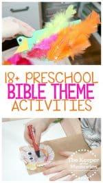 18+ Bible Preschool Monthly Theme Crafts & Activities