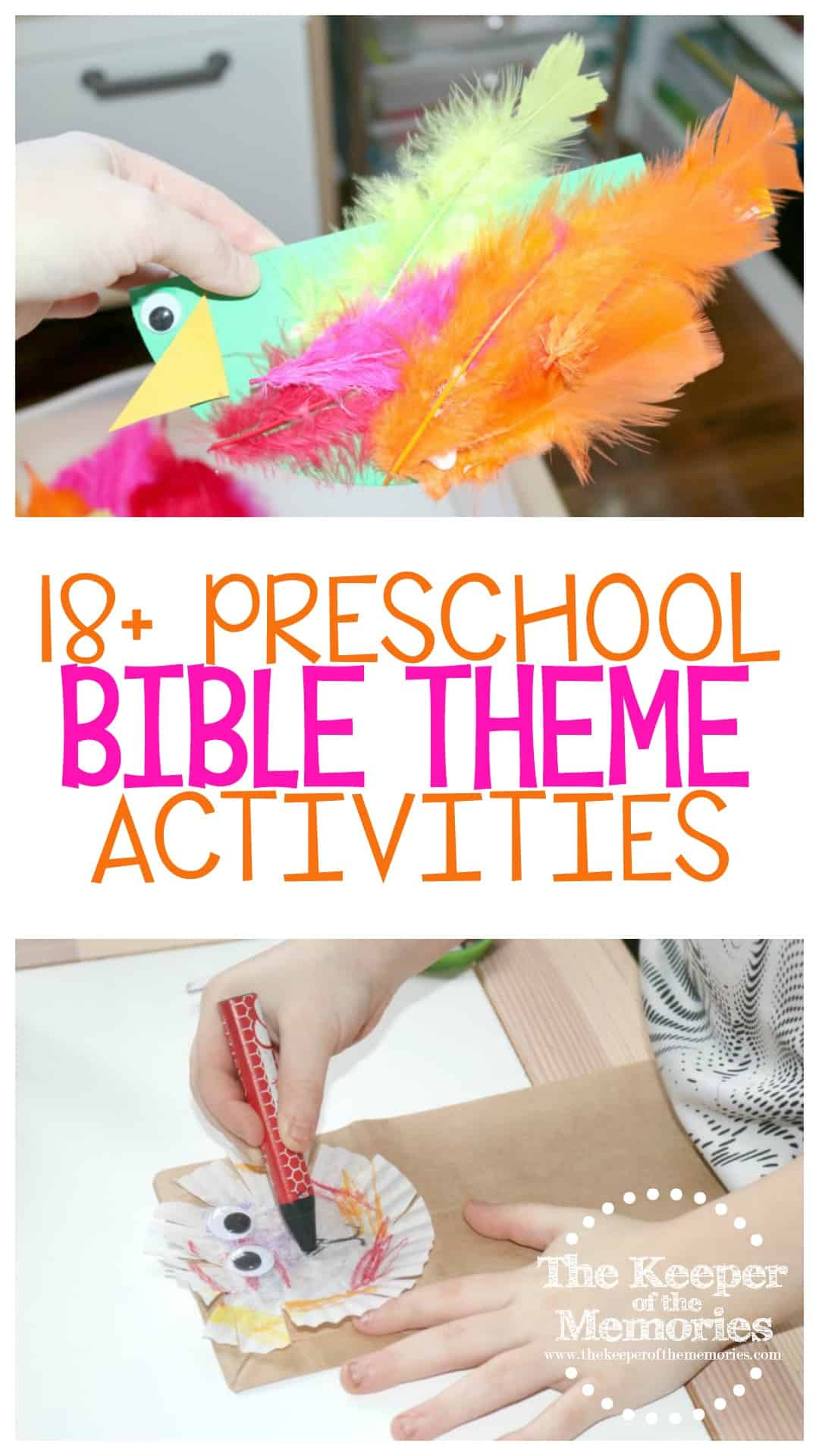 18+ Bible Preschool Monthly Theme Crafts & Activities
