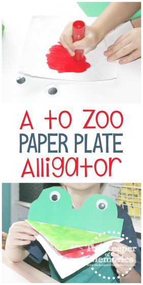 A to Zoo Paper Plate Alligator