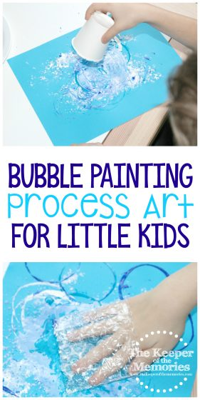 Bubble Painting Process Art for Little Kids