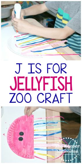 J is for Jellyfish Zoo Craft