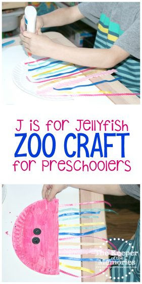 J is for Jellyfish Zoo Craft for Preschoolers