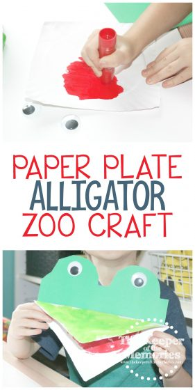 Paper Plate Alligator Zoo Craft