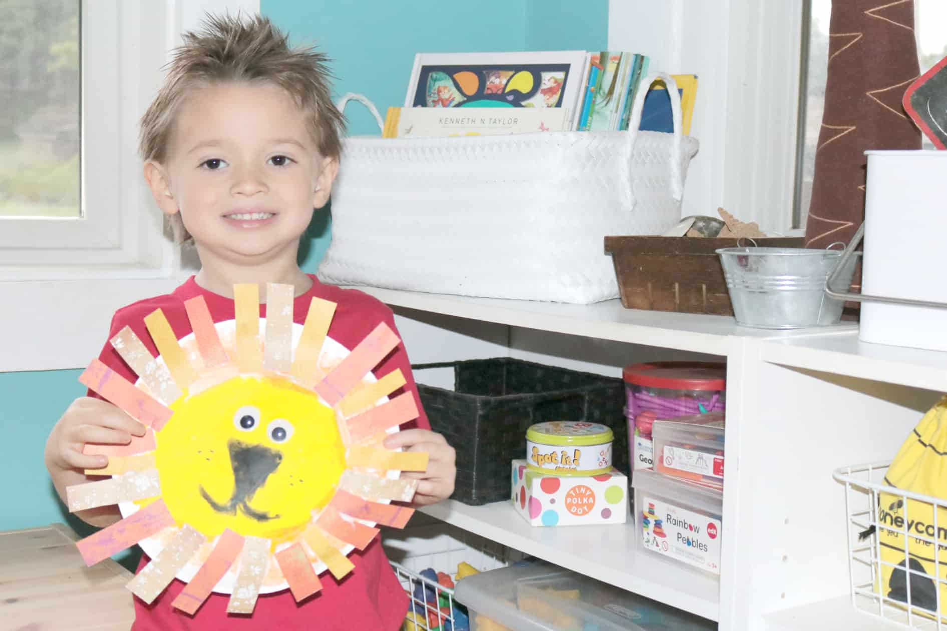 Paper Plate Lion Preschool Safari Craft