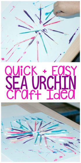 Quick & Easy Sea Urchin Craft Idea
