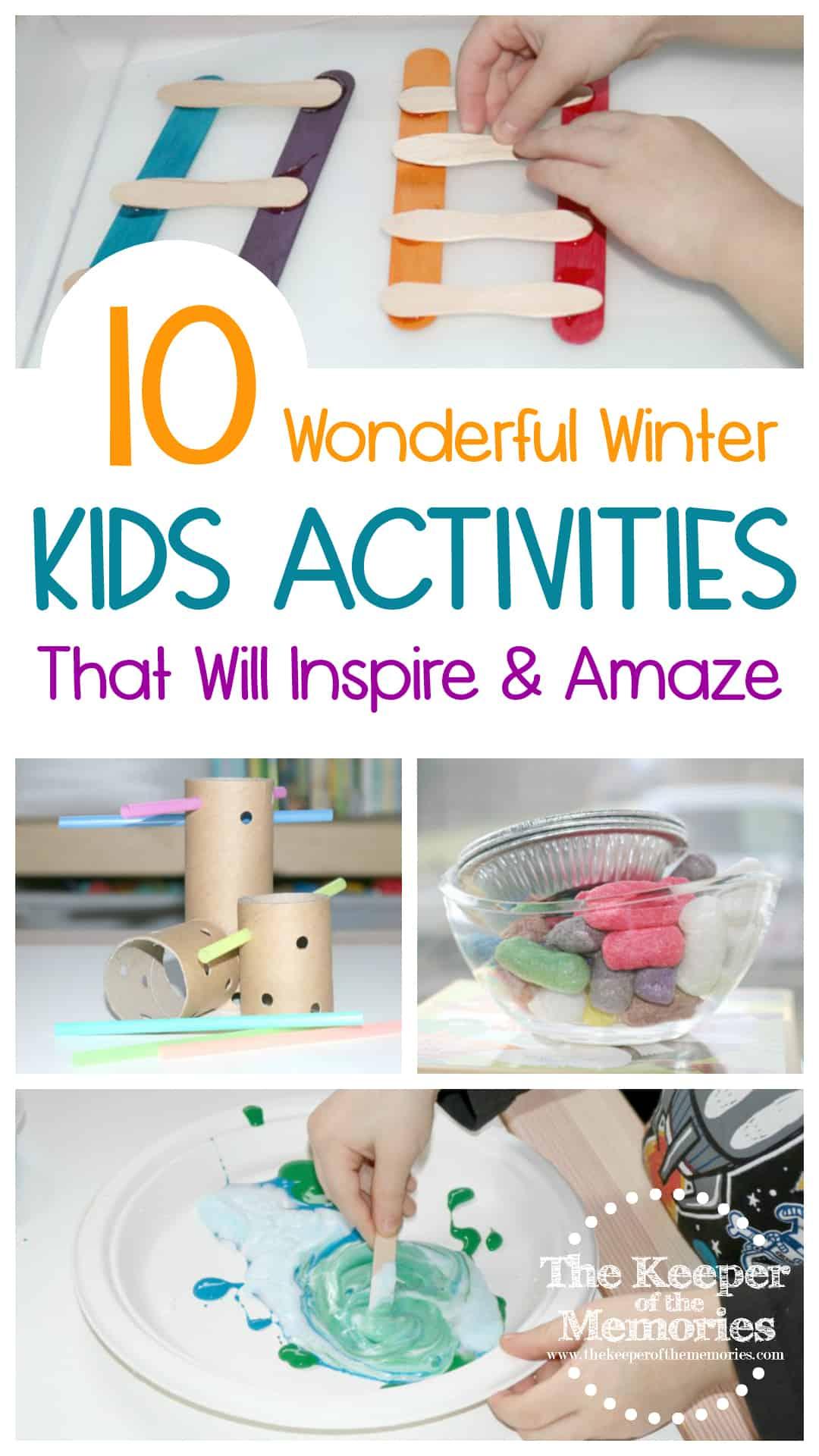10 Wonderful Winter Activities For Inspiring Indoor Play