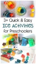 3+ Quick & Easy Ice Activities for Little Kids