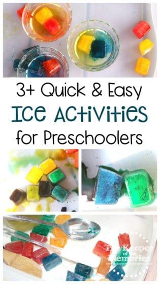 3+ Quick & Easy Ice Activities for Preschoolers
