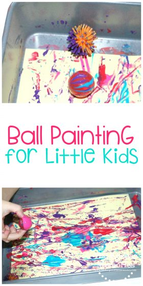 Ball Painting for Little Kids