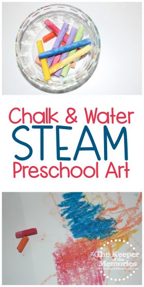 Chalk & Water STEAM Preschool Art