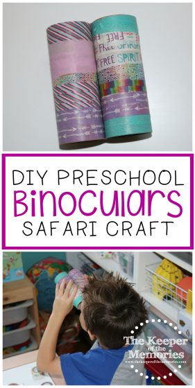 DIY Preschool Binoculars Safari Craft
