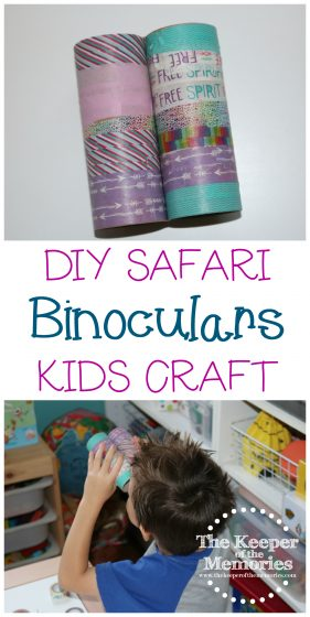 DIY Safari Crafts Binoculars Kids Craft