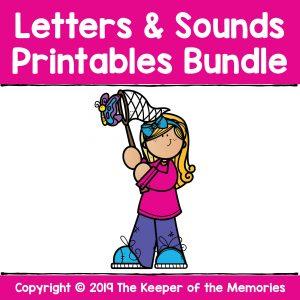 Kindergarten Worksheets Letters and Sounds