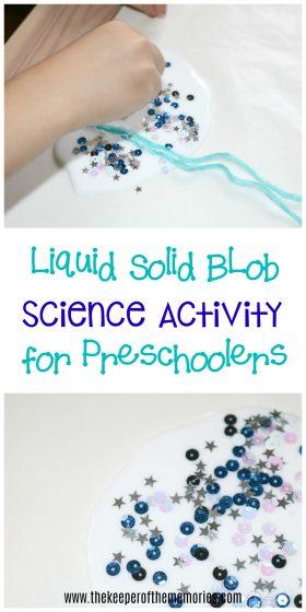 Liquid Solid Block Science Activity for Preschoolers
