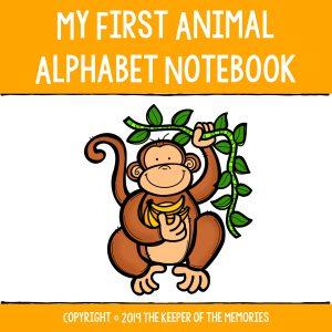 Preschool Worksheets My First Animal Alphabet Notebook Cover