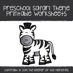 Preschool Safari Theme Printable Worksheets