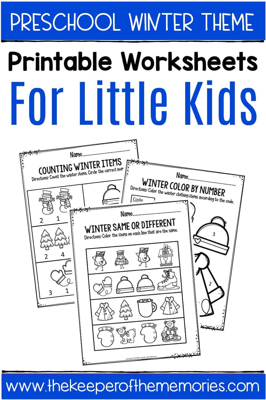 Winter Printable Preschool Worksheets