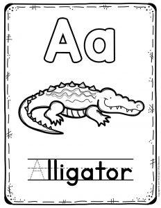 Preschool Worksheets A is for Alligator