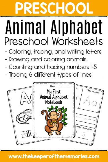 Preschool Worksheets Animal Alphabet