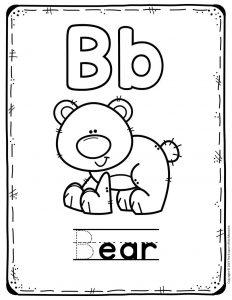 Preschool Worksheets B is for Bear