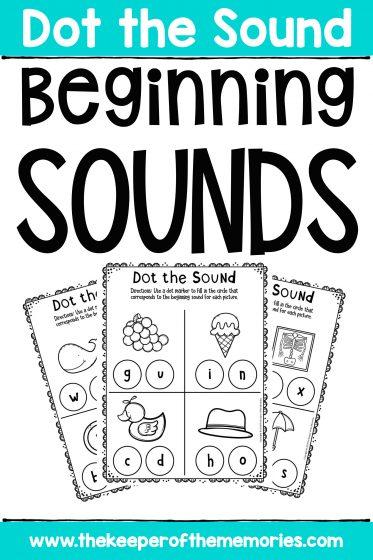 Preschool Worksheets Beginning Sounds Activity Sheets