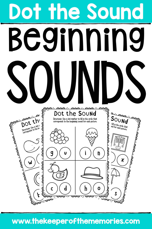 Beginning Sounds Worksheets for Preschoolers & Kindergartners