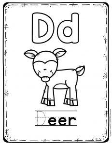 Preschool Worksheets D is for Deer