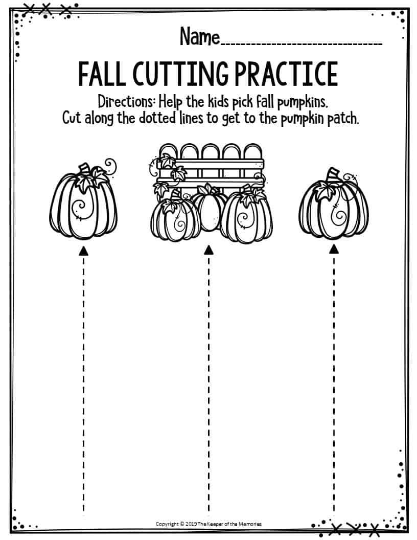Cutting Practice Worksheets For Kindergarten Pdf