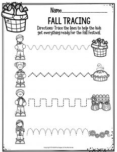 Preschool Worksheets Fall Tracing