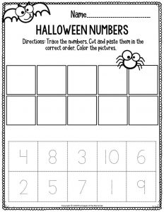 Preschool Worksheets Halloween Numbers
