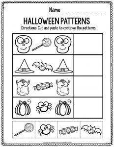 Preschool Worksheets Halloween Patterns
