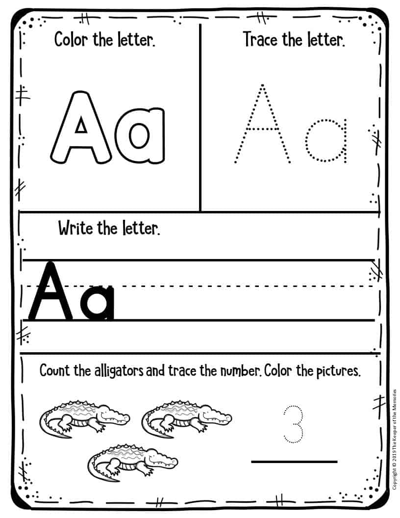 - Preschool Worksheets Letter A - The Keeper Of The Memories