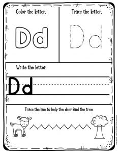 Preschool Worksheets Letter D