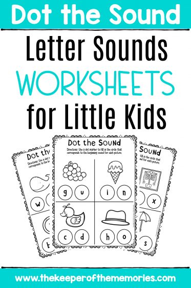 Preschool Worksheets Letter Sounds Worksheets for Little Kids