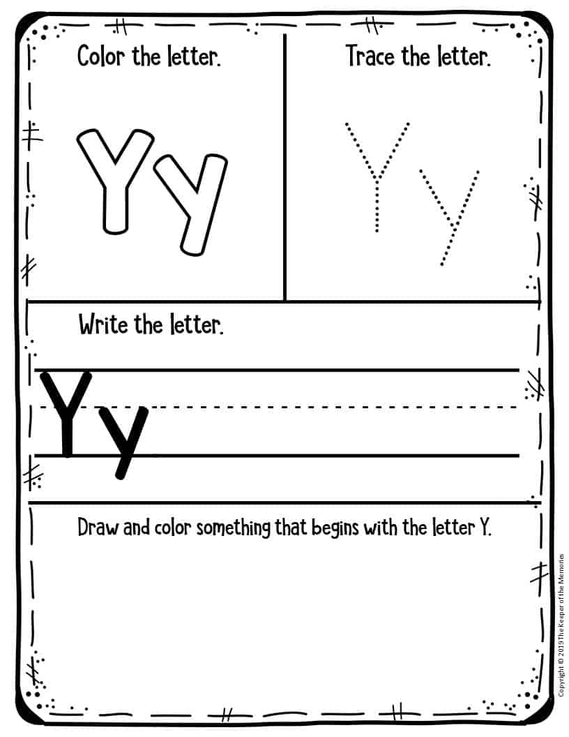 Preschool Worksheets My First Alphabet Learning Notebook ...
