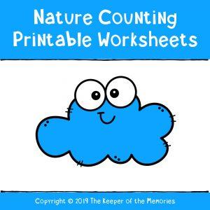Preschool Worksheets Nature Counting Printables
