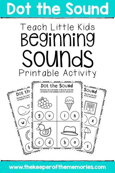 Preschool Worksheets Teach Little Kids Beginning Sounds Printable Worksheets