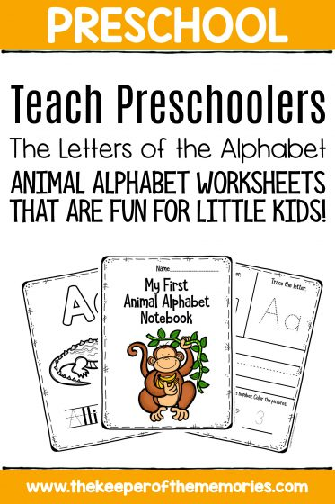 Preschool Worksheets Teach Preschoolers the Letters of the Alphabet