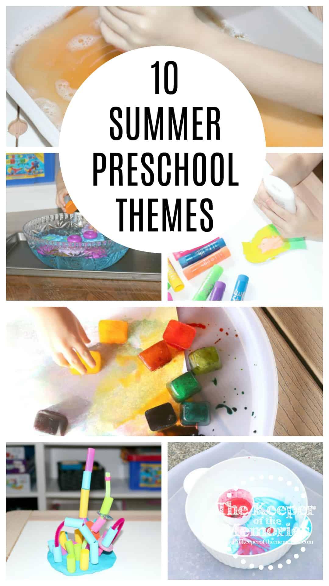 10+ Summer Preschool Monthly Themes