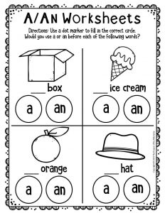 A An Worksheets for Kindergarten 3